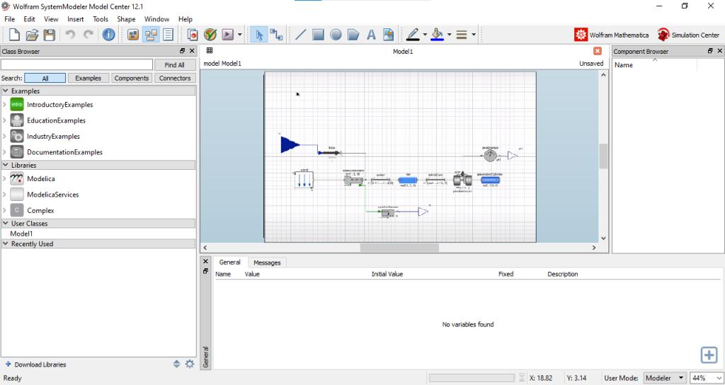 Wolfram SystemModeler 12.1