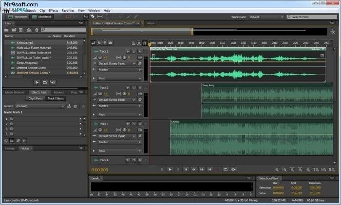 Adobe Audition UI