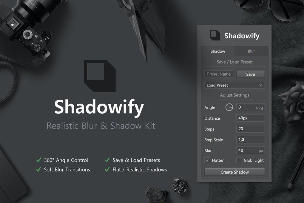 Shadowify Photoshop Plugin Free download